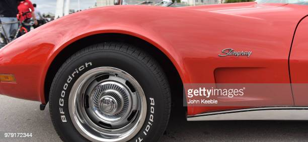 Chevrolet Corvette Stingray on display during the Southend Classic Car Show along the seafront on June 17 2018 in Southend on Sea England
