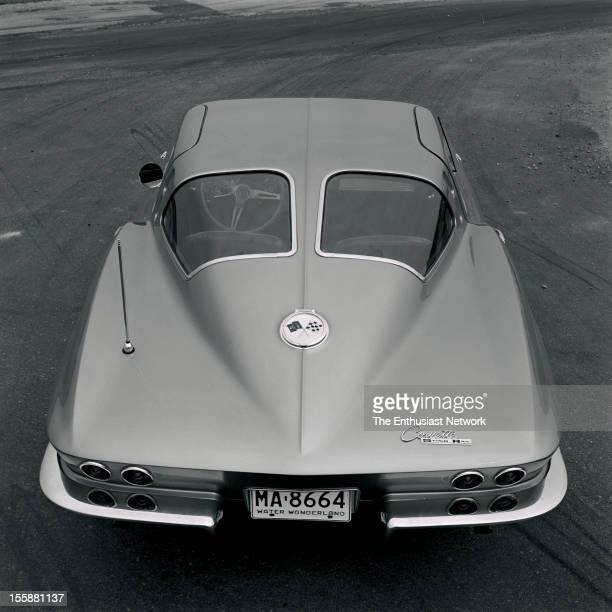 Chevrolet Corvette Stingray. The most pronounced new design feature is the fastback styling with split wrap-around rear windows.