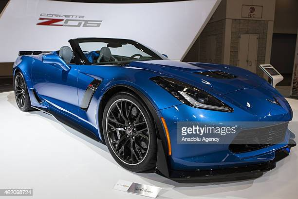 Chevrolet Corvette Z06 is displayed at the 2015 Washington Auto Show in Washington DC on January 23 2015