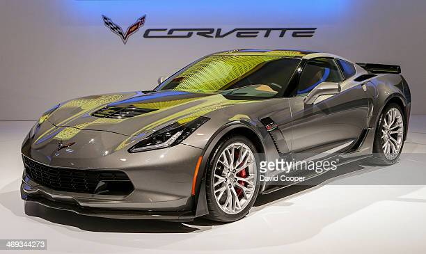 TORONTO ON FEBRUARY 13 Chevrolet Corvette Z06 on display during the media day at the Canadian International Auto Show in Toronto February 13 2014