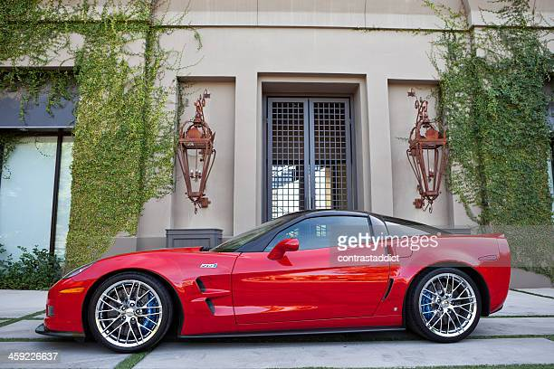 chevrolet corvette zr1 2009 - chevrolet corvette stock pictures, royalty-free photos & images