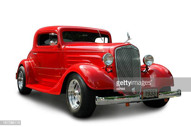 chevrolet coupe 1933 - hot rod car stock photos and pictures