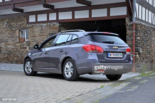 chevrolet cruze sw on the street - chevrolet stock pictures, royalty-free photos & images
