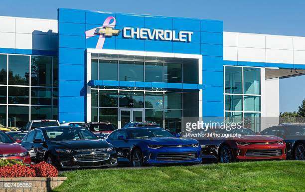 chevrolet dealership in rochester hills, michigan - chevrolet stock pictures, royalty-free photos & images