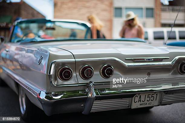 chevrolet impala 1963 convertible at the greenwood car show - chevrolet impala stock pictures, royalty-free photos & images