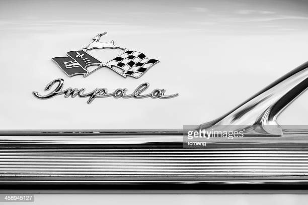 chevrolet impala emblem - chevrolet impala stock pictures, royalty-free photos & images