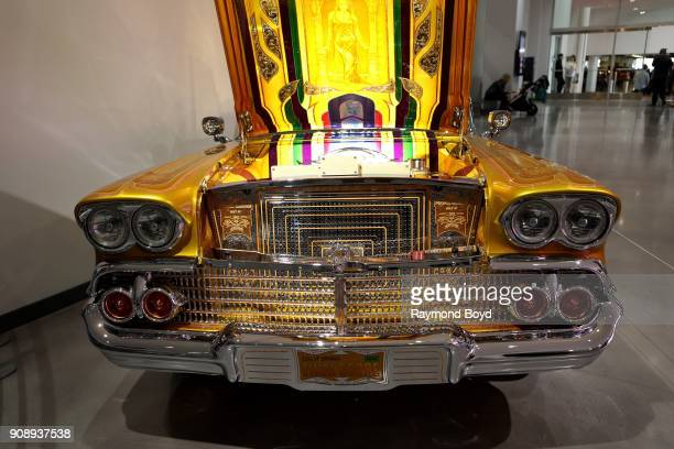 Chevrolet Impala 'Final Score' is on display in the David and Ginny Sydorick Grand Concourse inside the Petersen Automotive Museum in Los Angeles...