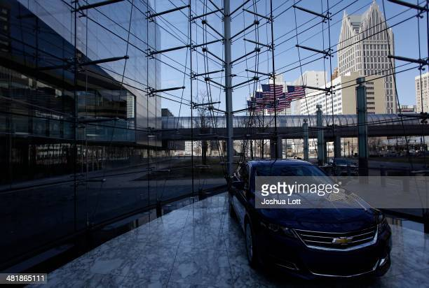 Chevrolet Impala is displayed at the General Motors headquarters April 1 2014 in Detroit Michigan General Motors has recalled millions of vehicles in...