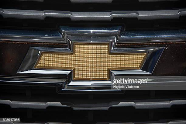 Chevrolet logo at the Frankfurt Auto Show 2013 in Frankfurt Germany 19 September 2013 The Frankfurt Auto Show is the World's largest It features the...