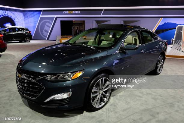 Chevrolet Malibu is on display at the 111th Annual Chicago Auto Show at McCormick Place in Chicago, Illinois on February 7, 2019.