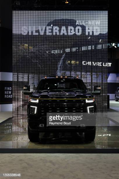 """Chevrolet Silverado is on display at the 112th Annual Chicago Auto Show at McCormick Place in Chicago, Illinois on February 6, 2020. """"n"""