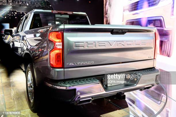 Chevrolet Silverado LTZ seen at the New York International Auto Show at the Jacob K Javits Convention Center in New York
