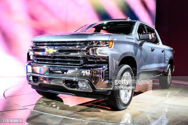 Chevrolet Silverado seen at the New York International Auto Show at the Jacob K Javits Convention Center in New York