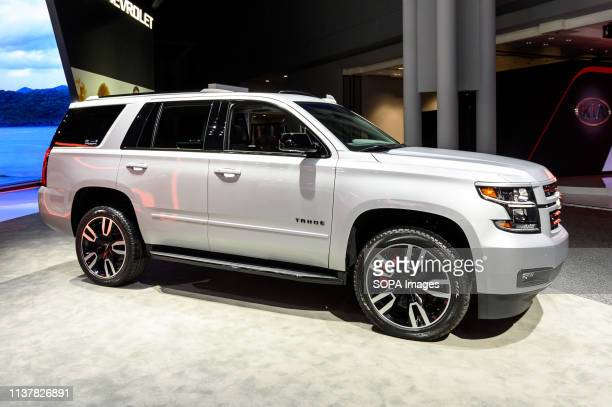 Chevrolet Tahoe seen at the New York International Auto Show at the Jacob K. Javits Convention Center in New York.