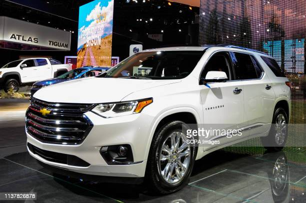 Chevrolet Traverse seen at the New York International Auto Show at the Jacob K. Javits Convention Center in New York.