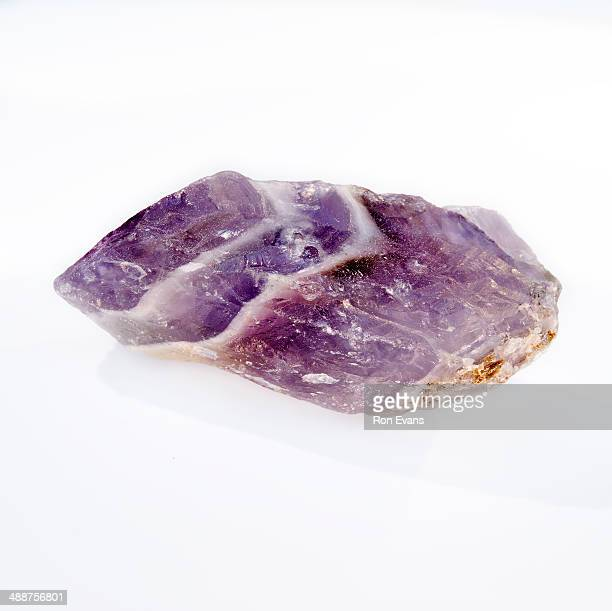 chevron amethyst crystal gemstone - amethyst stock photos and pictures