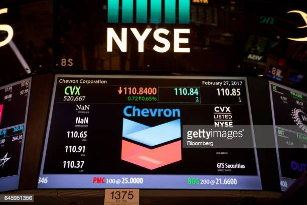 Chevron Corporation Stock Stock Photos And Pictures Getty Images