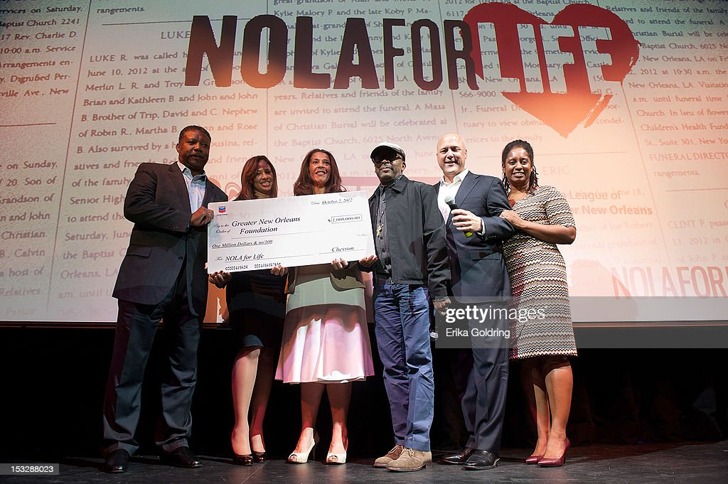 Chevron donated $1 million at the the 'Flip the Script' Public Awareness campaign launch at The Joy Theater on October 2, 2012 in New Orleans, Louisiana.