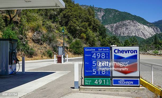 Chevron Gas Station in El Portal California