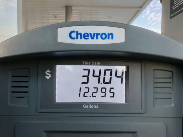 Chevron gas station meter.