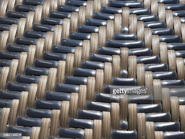 chevron motive of straw chair, full frame - 山形模様 ストックフォトと画像