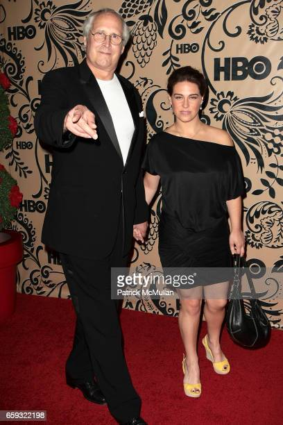 Chevy Chase and Caley Chase attend HBO EMMY After Party at Pacific Design Center on September 20 2009 in West Hollywood California