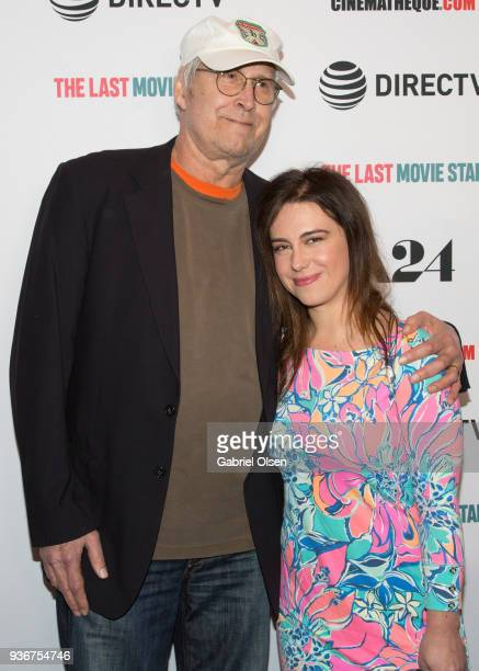 Chevy Chase and Caley Leigh Chase arrive to A24 And DirecTV's The Last Movie Star Premiere at the Egyptian Theatre on March 22 2018 in Hollywood...