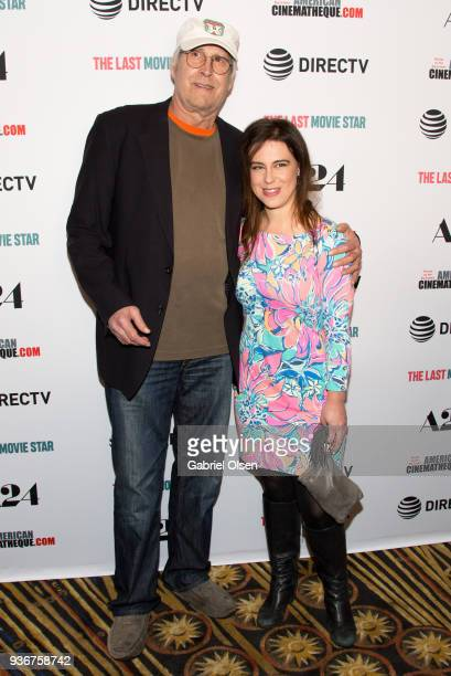 Chevy Chase and Caley Leigh Chase arrives to A24 And DirecTV's The Last Movie Star Premiere at the Egyptian Theatre on March 22 2018 in Hollywood...