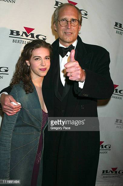 Chevy Chase and daughter Caley during BMG Grammy After Party Arrivals at Gotham Hall in New York NY United States