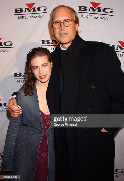 Chevy Chase and daughter Caley during The 45th Annual GRAMMY Awards BMG AfterParty Arrivals at Gotham Hall in New York City New York United States