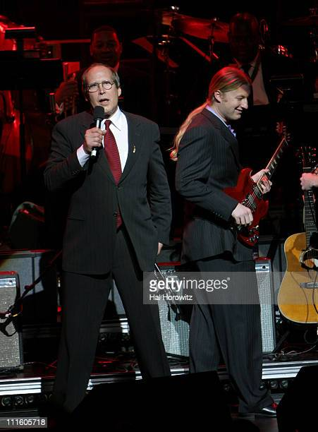 Chevy Chase and Derek Trucks during Jazz at Lincoln Center's 2007 Spring Gala at Frederick P Rose Hall in New York City New York