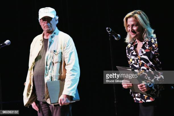 Chevy Chase and Edie Falco perform in the New York debut of the hit show 'Letters Live' at Town Hall on May 19 2018 in New York City