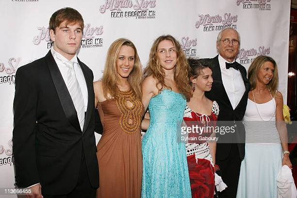 Chevy Chase and family during Martin Short Fame Becomes Me Broadway Opening Night Arrivals at Bernard B Jacobs Theater in New York City New York...