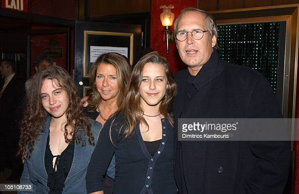 Chevy Chase and family during Matrix Reloaded New York Premiere Inside Arrivals at Ziegfeld Theater in New York City New York United States