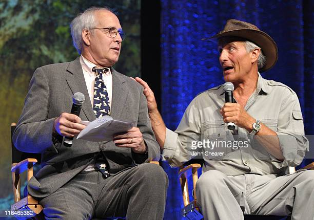Chevy Chase and Jack Hanna on stage at the National Wildlife Federation Voices for Wildlife 75th Anniversary Gala at the Beverly Wilshire Four...