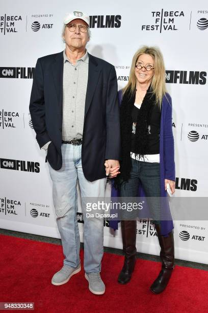 Chevy Chase and Jayni Chase attend the opening night gala of 'Love Gilda' during the 2018 Tribeca Film Festival at Beacon Theatre on April 18 2018 in...