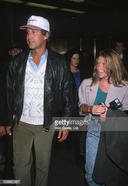 Chevy Chase and Jayni Chase during 'Saturday Night Live' 15th Anniversary at NBC Studios in New York City New York United States