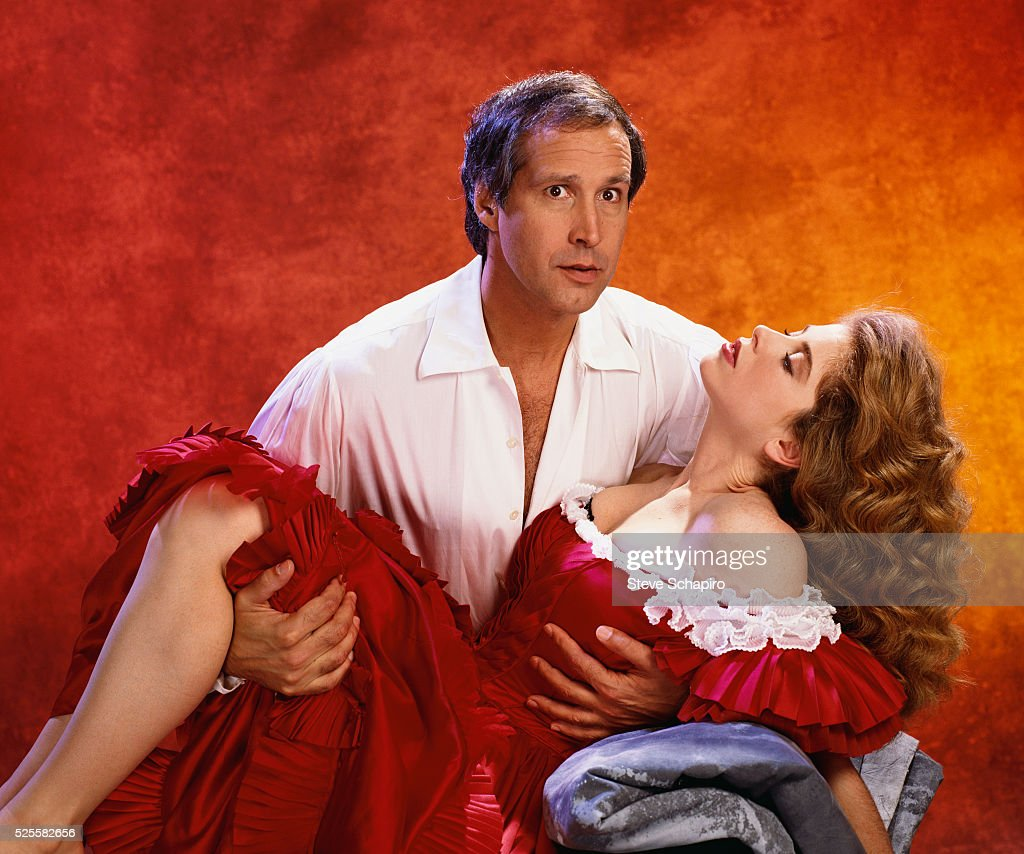 Chevy Chase in Gone With The Wind Parody : News Photo