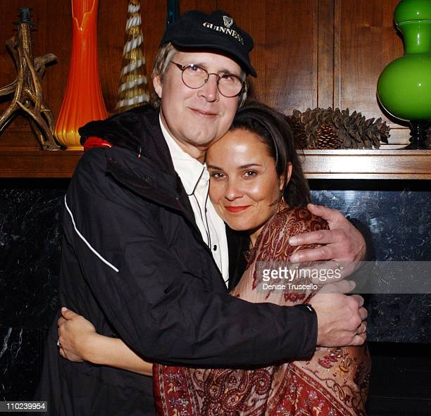 Chevy Chase and Rebecca Rigg during 2005 Park City Ellie Parker Dinner at Levi's Ranch in Park City Utah United States