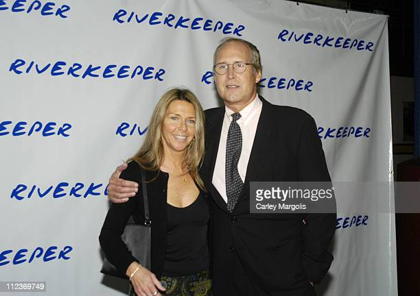 Chevy Chase and wife Jayni Chase during The 2004 Riverkeeper Benefit Dinner at Chelsea Piers, Pier 60 in New York City, New York, United States.