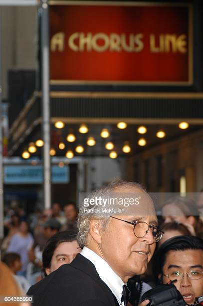 Chevy Chase attends MARTIN SHORT FAME BECOMES ME Opening Night Arrivals at Bernard B Jacobs Theatre on August 17 2006 in New York City