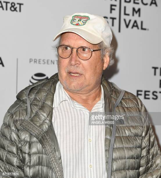 Chevy Chase attends the 'Dog Years' premiere during 2017 Tribeca Film Festival at Cinepolis Chelsea on April 22 2017 in New York City / AFP PHOTO /...