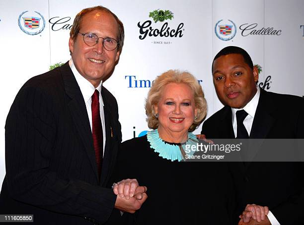 Chevy Chase Barbara Cook and Wynton Marsalis during Jazz at Lincoln Center's 2007 Spring Gala Arrivals at Frederick P Rose Hall in New York New York...