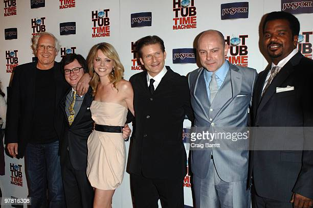 Chevy Chase Clarke Duke Collette Wolf Crispin Glover Rob Corddry and Craig Robinson arrive at the Hot Tub Time Machine Los Angeles Premiere After...