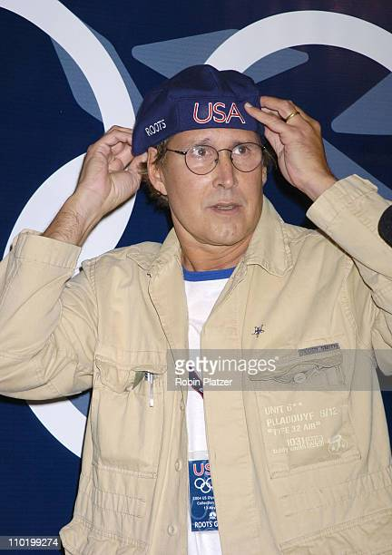 Chevy Chase during The Launch of the 2004 US Olympic Team Collection by Roots by Olympic Athletes at The NBC Experience Store in New York City New...