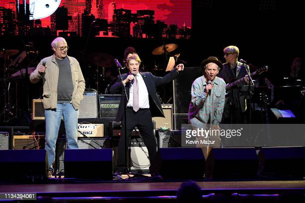 Chevy Chase Martin Short and Bill Murray onstage during the Third Annual Love Rocks NYC Benefit Concert for God's Love We Deliver on March 07 2019 in...