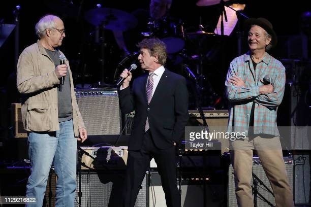 Chevy Chase Martin Short and Bill Murray perform during Love Rocks NYC A Benefit for God's Love We Deliver at Beacon Theatre on March 7 2019 in New...