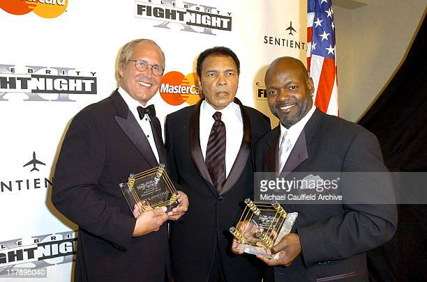 Chevy Chase Muhammad Ali and Emmitt Smith during Celebrity Fight Night XI at Arizona Biltmore Resort in Phoenix Arizona United States