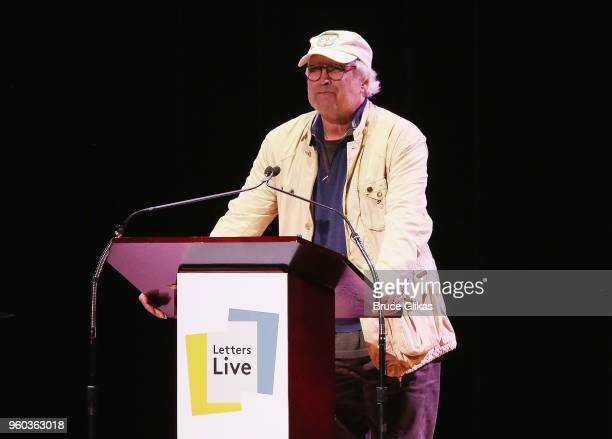 Chevy Chase performs in the New York debut of the hit show 'Letters Live' at Town Hall on May 19 2018 in New York City