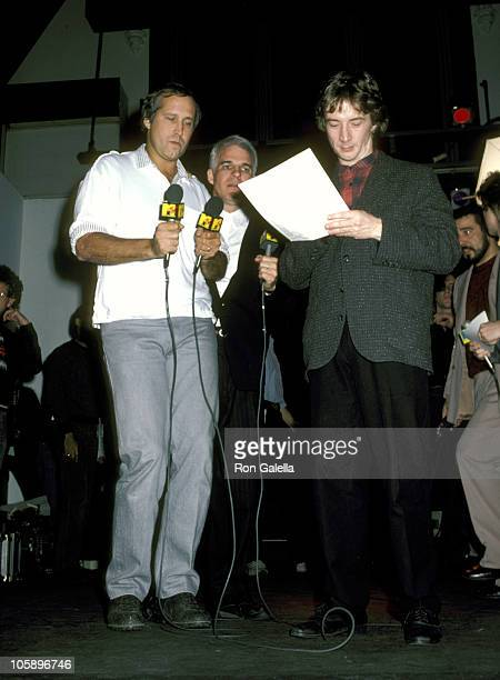Chevy Chase Steve Martin and Martin Short during Three Amigos Party at Limelight in New York December 9 1986 at Limelight in New York City New York...
